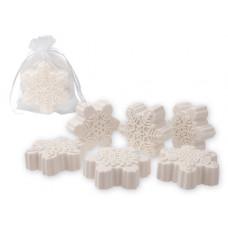 FLAKE SOAP přírodní mýdlo z bambuckého másla s vůní japonské magnolie, 60g, bílá
