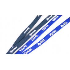 Šňůrka šířka 10 mm dutinka s kovovou karabinou